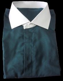 chemise bleue petrole